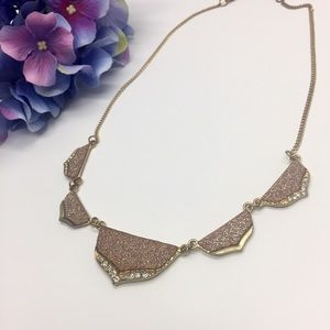 🌟 2/$28 Statement Necklace with Rose Gold Detail